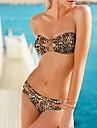 Femei sexy Leopard bandeau Bikini Costume de baie