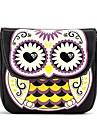 Dammode Söt Owl Candy Color Läder Axelväska Messenger