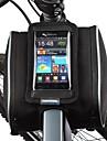 Sac de Vélo 1.8LSac de cadre de vélo Sac de téléphone portable Résistant à la poussière Ecran tactile Sac de CyclismeCuir PU Polyester
