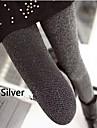 Femei de aur și argint Silk Elastic Costum