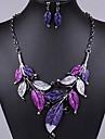 J & S Vintage Leaves Shaped Smycken Set