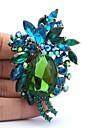 7.8cm stras și aliaj de flori broșă Pin pentru bijuterii femei (Mai multe culori)