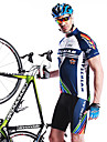 MYSENLAN® Cykeltröja med shorts Herr Kort ärm Cykel Andningsfunktion Snabb tork Bärbar 3D TablettVadderade shorts Cykeltröja + shorts