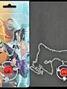 Smycken Inspirerad av Naruto Sasuke Uchiha Animé Cosplay Accessoarer Halsband Röd / Silver Legering Man