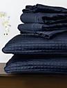 ensemble de couette huani®, 3 pièces à carreaux polyester marine