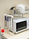 BAOYOUNI acier inoxydable Micro-ondes micro-ondes stand stand Cuisine Micro stand Support de rangement
