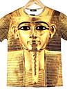 GEXY Mäns europeiska och amerikanska 3D Stereo Wild Egypten Avatar Skriver T-tröja
