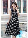 Femei de moda Maieuri Print Pattern Dress
