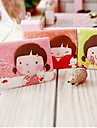 Tecknad Little Girl Pattern Card Case (Random färg)