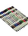 12 Color Lip Ögonbryn Plast Glitter Eyeliner Pen Pencil Kosmetisk Makeup Set 4914