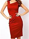 Femei ciufulit Bodycon Slim genunchi-lungime rochie