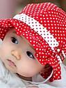 Copii Polka Dot Bowknot de bumbac de vară Hat