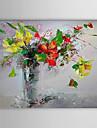 Pictat manual Floral/Botanic Orizontal Un Panou Canava Hang-pictate pictură în ulei For Pagina de decorare