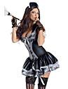 Cosplay Kostymer/Dräkter Uniformer Festival/Högtid Halloween Kostymer svart Spets Klänning / Huvudbonad Halloween / Karnival Polyester