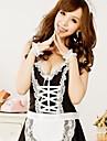Femei Lenjerie sexy Housemaid roaba Princess Uniform Cosplay Costum negru cu alb Apron