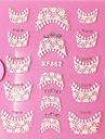 3D Rhinestone French Lace Nail Art Stickers XF-seriens NO.862