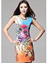 TS Floral Print Simplitate Slim Cut Dress