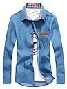 Glory skjortkrage långärmad Solid Color Denim Shirt