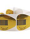 10ST gyllene hästsko mönster nagel konst Forms För akryl och UV Gel Tips
