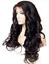 20inch Vackra Loose Wave 100% indiska Human Hair limfria Front Lace Wig med baby hår