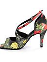 Chaussures de danse (Multicolore/Leopard) - Personnalisable - Gros talon - Similicuir - Danse latine