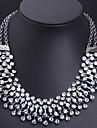 Dame Coliere Cristal imitație de diamant Aliaj La modă Declaratie de bijuterii bijuterii de lux Bijuterii