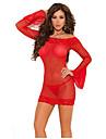 körsbärsröda kvinnors occident sexiga underkläder, inklusive kjol t-back (red)