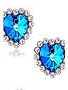 Cercei Stud Safir Iubire bijuterii de lux Piatră Preţioasă Ștras Hârtie Reciclabilă imitație de diamant Aliaj Heart Shape Bijuterii Pentru