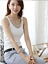 Femei coreeană Plus Size bumbac Diamond Decorat Vest T-shirt