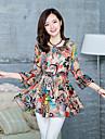 J & K femei Bodycon șifon Floral Print Bluza