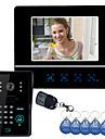 """7 """"video porttelefon dörrklockan Intercom System Touch Panel Door Lock RFID Fjärrkontroller"""