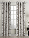 deux panneaux pays florales botaniques vie blanc rideaux de coton ambiante opaques