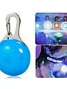 Katter / Hundar Halsband / LED-säkerhetslampa Vattentät / LED Lampor Vit / Blå Plast