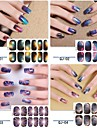 12PCS pleine couverture Starry Sky Nail Art Stickers (N ° 1, couleurs assorties)