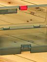 210 * 118 * 45mm vert armée boîte de pêche Tackle Box
