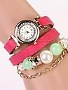 C & D 2014 nouvelles femmes s'habillent montres perles de luxe à longue chaîne bracelet en cuir strass xk-15