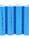 5000mAh 18650 (4pcs) + 4 PCs / Lot plastique dur Boîte de rangement de la batterie pour 18650