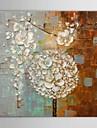 HANDMÅLAD Abstrakt Fyrkantig,Moderna En panel Kanvas Hang målad oljemålning For Hem-dekoration
