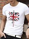 Bărbați Round Casual guler de vara din bumbac cu maneci scurte de imprimare de brand T-shirt