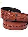 Bărbați Fashion crocodil de design Vintage vacă din piele talie Belt
