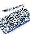 2014 Fashion Design Leopard stil Utsökt Blixtlås PU Leather Wallet