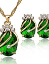 Femei Crystal bijuterii set Brand 18K placat cu aur Seturi Fashion Party Set de bijuterii stras