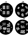 1PCS Nail Art Stamping Timbre Image de tasse Plate Série M n ° 4 (couleurs assorties)