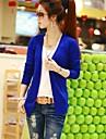 femei bomboane de culoare tricotaje mânecă lungă cardigan