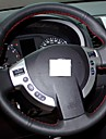ziqiao couverture réelle du volant en cuir noir pour nissan qashqai x-trail NV200 rogue