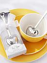 """""""Tea time"""" boule à thé en acier inoxydable de coeur dans l'élégant coffret cadeau blanc, w16.5cm xl5cm"""