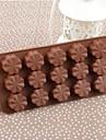 Silicone Quincunx gâteau au chocolat de glace Moule, 22x10x1.7cm (couleur aléatoire)