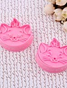 Plast 3D Marie Cat Cake Cookie Plunger Cutter Mold Set med 2 st