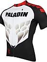 PALADIN® Cykeltröja Herr Kort ärm Cykel Andningsfunktion / Snabb tork / Ultraviolet Resistant Tröja / Överdelar 100% Polyester StribetVår