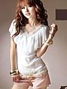 Femei Lace guler primavara-vara Bluza T Shirt